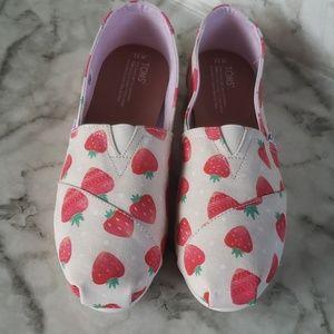 Tom's canvas flats shoes size 11